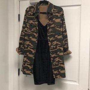 BNWT CAMO DENIM JACKET DRESS